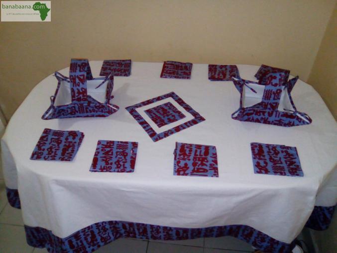 Deco Linge Maison Nappe Pour Table Dakar Banabaana