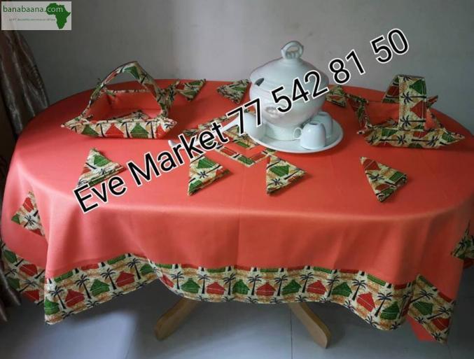 deco linge maison nappe pour table dakar banabaana. Black Bedroom Furniture Sets. Home Design Ideas